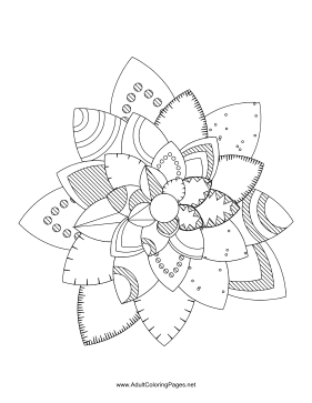 Flower-36 coloring page