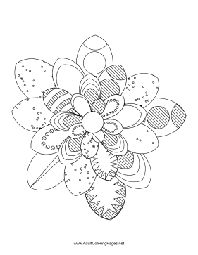 Flower-37 coloring page