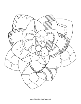 Flower-39 coloring page