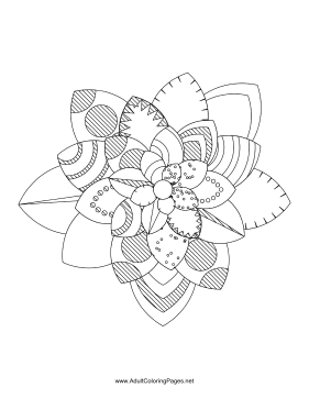 Flower-40 coloring page