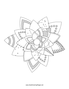 Flower-41 coloring page
