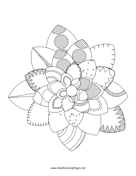 Flower-43 coloring page