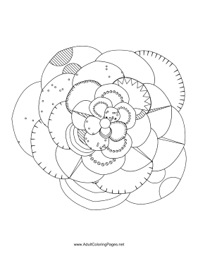 Flower-45 coloring page