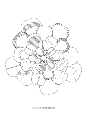 Flower-46 coloring page