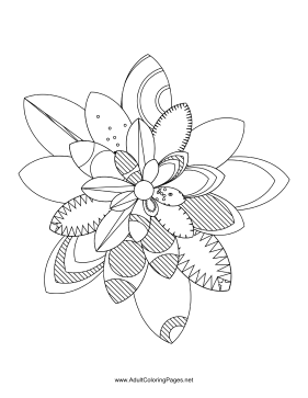 Flower-48 coloring page