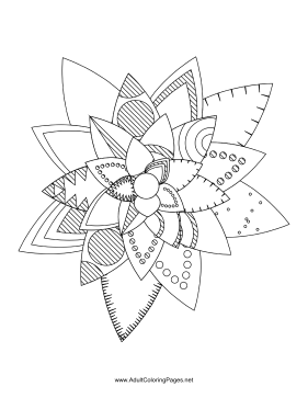 Flower-49 coloring page