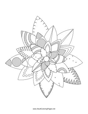Flower-50 coloring page