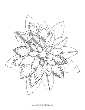 Flower-51 coloring page