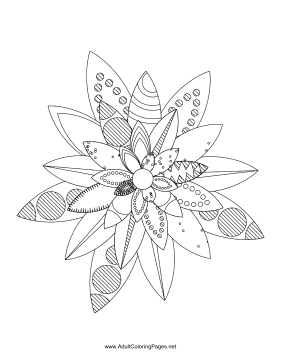Flower-52 coloring page