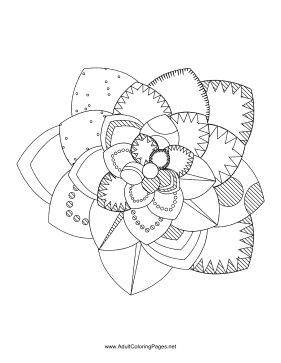 Flower-53 coloring page