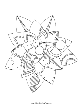 Flower-54 coloring page