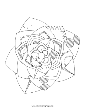 Flower-55 coloring page