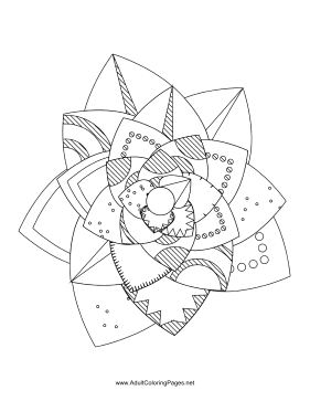 Flower-56 coloring page