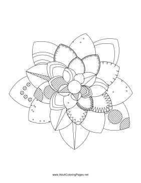 Flower-57 coloring page