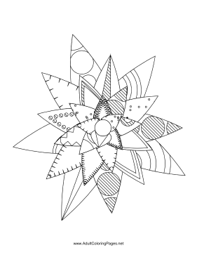Flower-58 coloring page