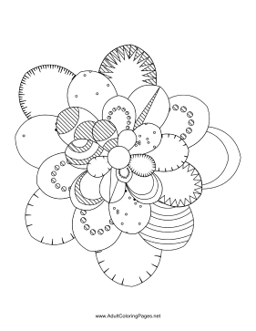 Flower-59 coloring page