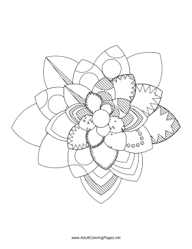 Flower-60 coloring page