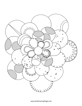 Flower-62 coloring page