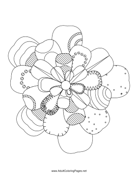 Flower-63 coloring page