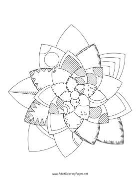 Flower-64 coloring page