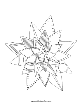 Flower-65 coloring page
