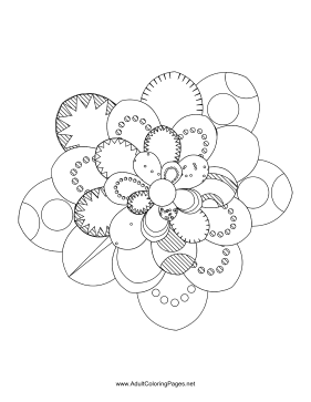 Flower-66 coloring page