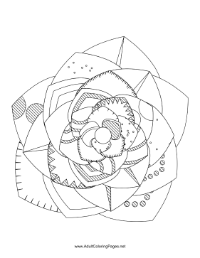 Flower-68 coloring page