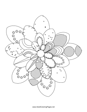 Flower-69 coloring page