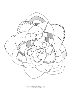 Flower-70 coloring page