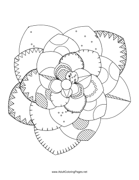Flower-71 coloring page