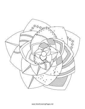 Flower-72 coloring page