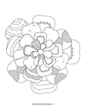 Flower-73 coloring page