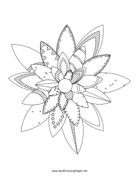 Flower-74 coloring page