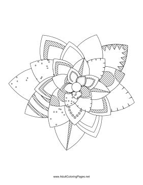 Flower-76 coloring page