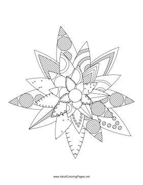 Flower-78 coloring page