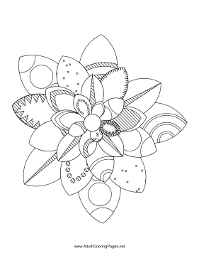 Flower-79 coloring page