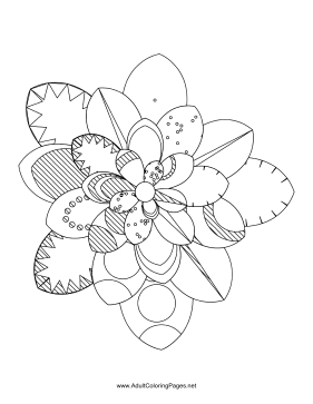 Flower-80 coloring page