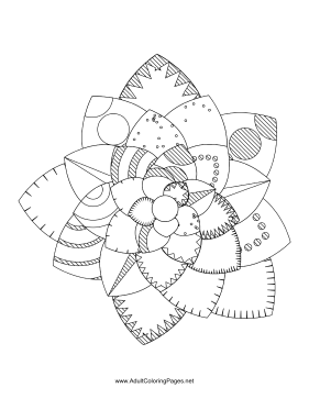 Flower-82 coloring page