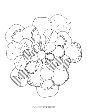 Flower-84 coloring page