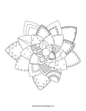 Flower-85 coloring page