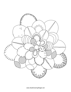Flower-87 coloring page