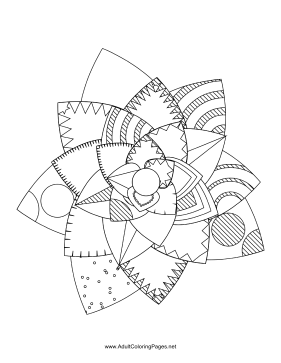 Flower-88 coloring page