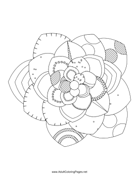 Flower-90 coloring page