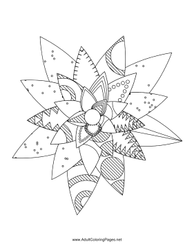 Flower-91 coloring page