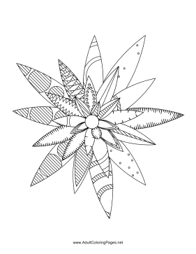 Flower-92 coloring page