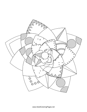 Flower-93 coloring page