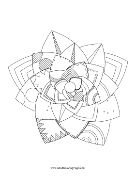Flower-94 coloring page