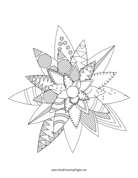 Flower-95 coloring page