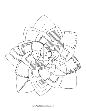Flower-96 coloring page