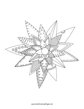 Flower-97 coloring page